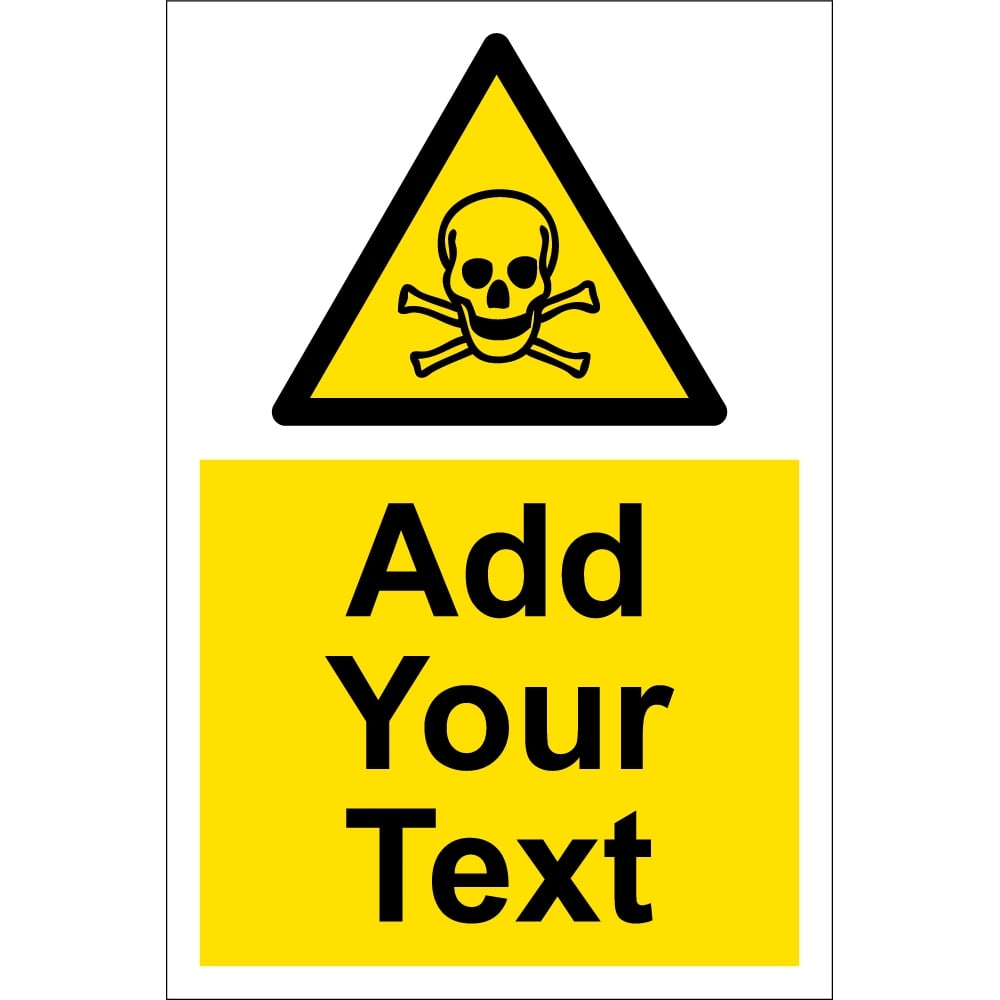 Custom Toxic Material Signs From Key Signs Uk