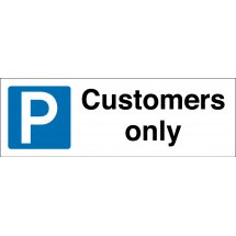 Customers Only Parking Signs