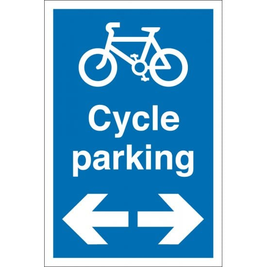 Cycle Parking Arrow Left Right Signs