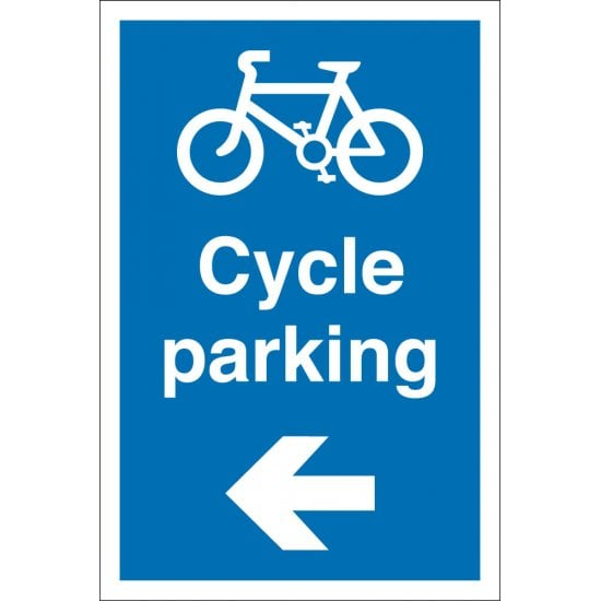 Cycle Parking Arrow Left Signs