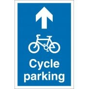 Cycle Parking Arrow Up Signs