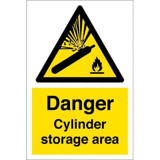 Cylinder Storage Area Signs