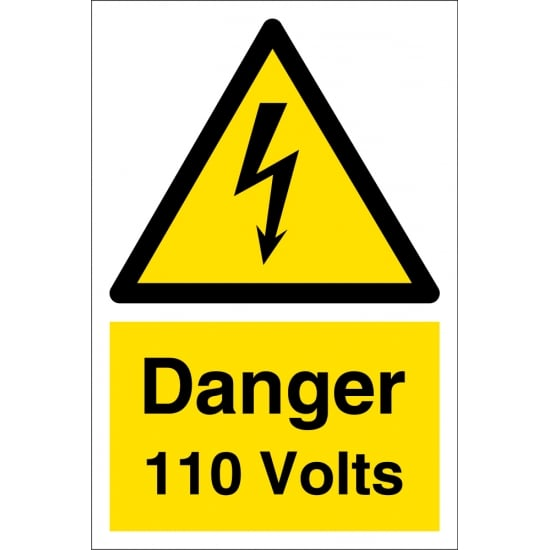 Danger 110 Volts Signs