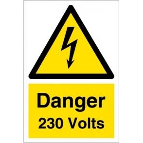 Danger 230 Volts Signs