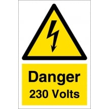 Danger 230 Volts Signs