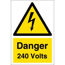 Danger 240 Volts Signs