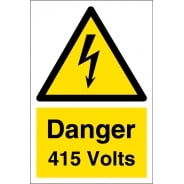 Danger 415 Volts Signs