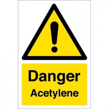 Danger Acetylene Signs