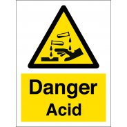 Danger Acid Signs