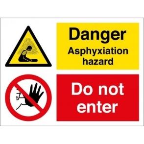 Danger Asphyxiation Hazard Do Not Enter Signs