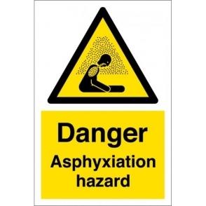 Danger Asphyxiation Hazard Signs
