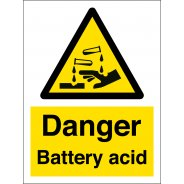 Danger Battery Acid Signs