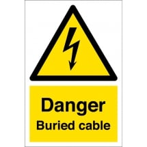 Danger Buried Cable Signs