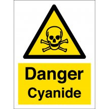 Danger Cyanide Safety Signs