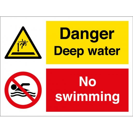 Danger Deep Water No Swimming Signs