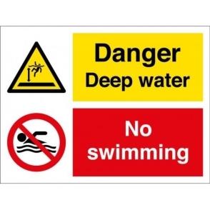 Danger Deep Water No Swimming Signs