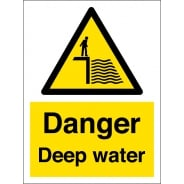Danger Deep Water Signs