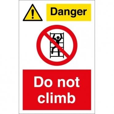 Danger Do Not Climb Signs