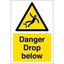 Danger Drop Below Warning Signs