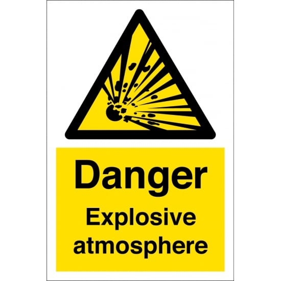 Danger Explosive Atmosphere Safety Signs