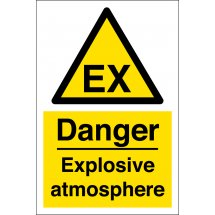 Danger Explosive Atmosphere Signs