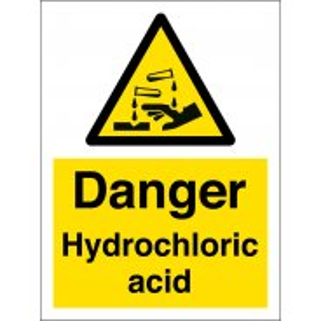 Danger Hydrochloric Acid Signs