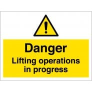 Danger Lifting Operations In Progress Signs