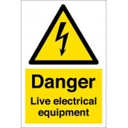 Danger Live Electrical Equipment Signs