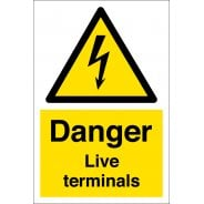 Danger Live Terminals Signs