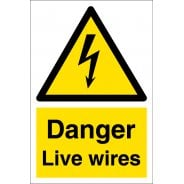 Danger Live Wires Signs