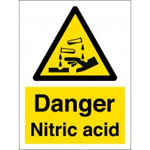 Danger Nitric Acid Signs