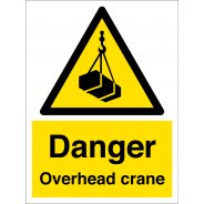 Danger Overhead Crane Signs