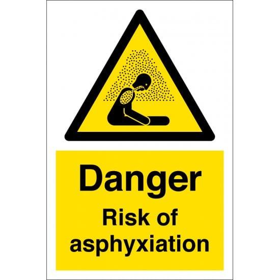 Danger Risk Of Asphyxiation Signs