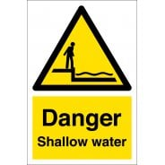 Danger Shallow Water Signs