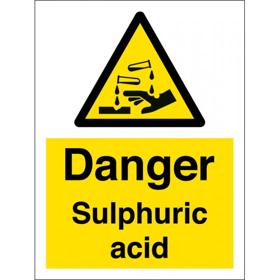 Danger Sulphuric Acid Signs