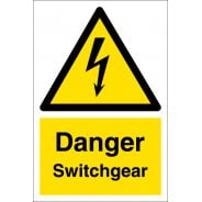 Danger Switchgear Signs