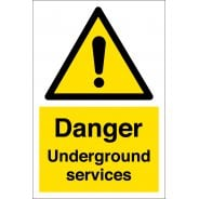 Danger Underground Services Signs