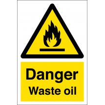 Danger Waste Oil Signs