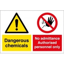 Dangerous Chemicals Authorised Personnel Only Signs