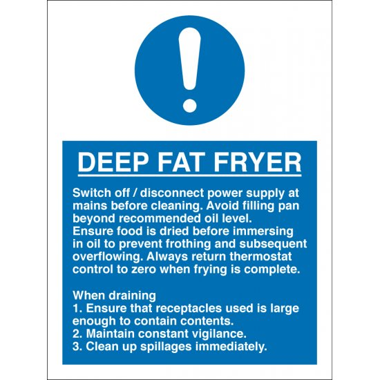 Deep Fat Fryer Signs