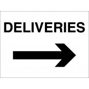 Deliveries Arrow Right Signs