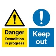 Demolition In Progress Keep Out Signs