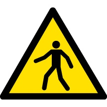 Pedestrian Area Warning Signs