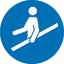 Please Use Handrail Signs