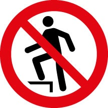 No Stepping On Surface Signs