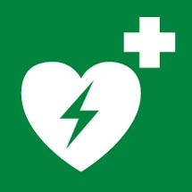 AED Defibrillator First Aid Signs