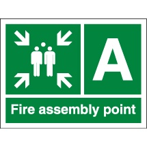 Fire Assembly Point Signs With Letters