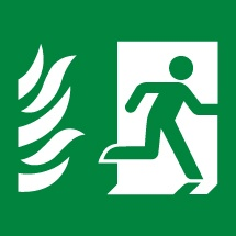 Hospital Fire Exit Signs