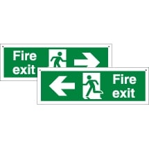 Double Sided Fire Exit Signs