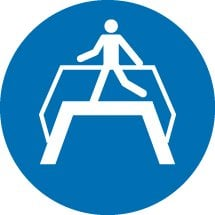Use Footbridge Signs
